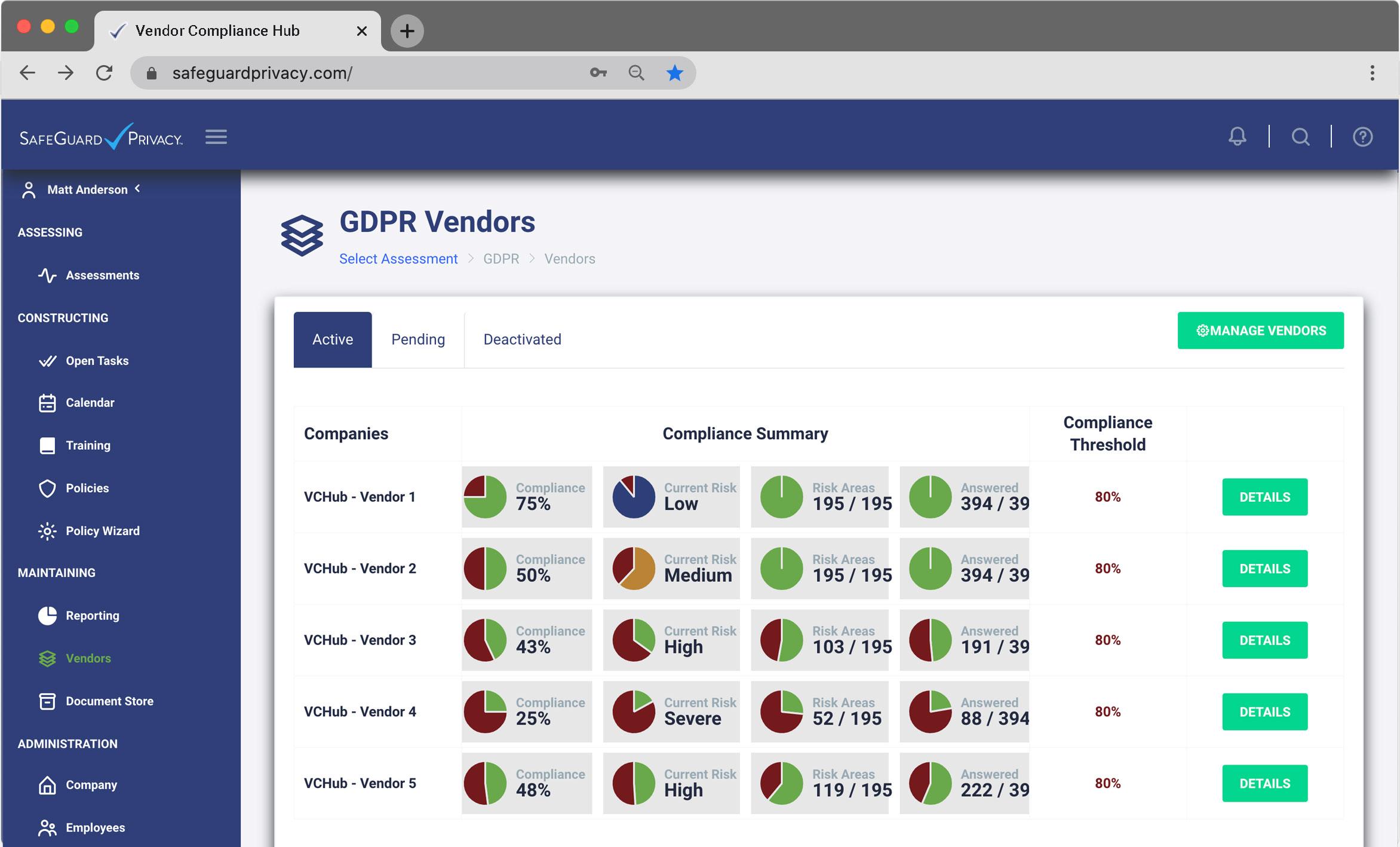 Vendor Compliance Hub